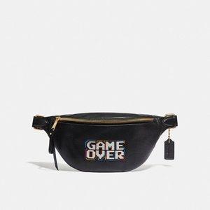 "COACH ""PAC-MAN"" leather belt bag."